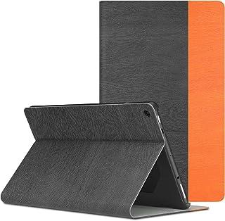 ATiC Fire HD 10(Newモデル) ケース 2017用 カバー 超薄 軽量 PUレザー製 オートスリープ機能付き スタンドケース 落下防止 耐衝撃 保護カバー DarkGray&Orange