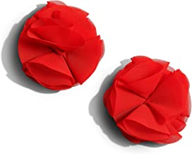 Nippies Gold Pasties Burlesque Nipple Tassels with Reusable Adhesive - Red Rose