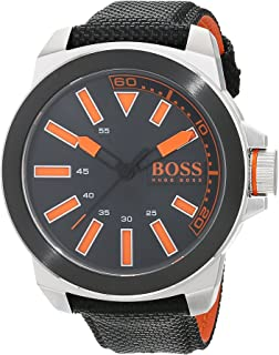 Hugo Boss Men's Black Dial Silicone Band Watch - 1513116