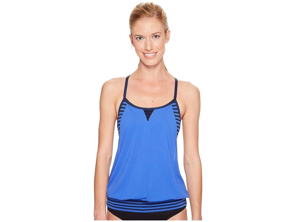 Nike Laser Sport Tankini Top (Medium Blue) Women