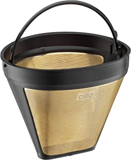 Cilio 4017166116007 Coffee Filter Size 4 Gold, one