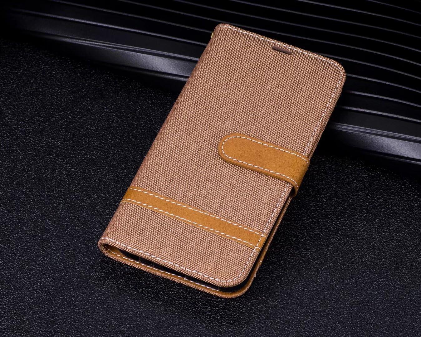 Stile del Denim Blue LEMORRY Per LG Q8 H970 Custodia Pelle Cuoio Flip Portafoglio Borsa Sottile Bumper Protettivo Magnetico Morbido Silicone TPU Cover Custodia per LG Q8 H970