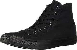 Converse Mens CTAS Hi Mono Fabric Hight Top Lace Up, Black Monochrome, Size 11.0