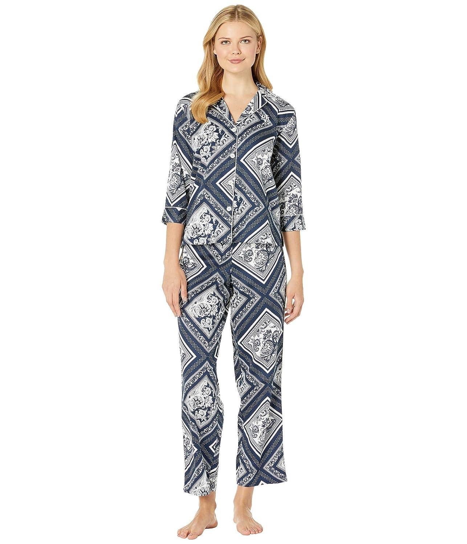 [LAUREN Ralph Lauren(ローレンラルフローレン)] レディースパジャマ?ナイトウェア 3/4 Sleeve Pointed Notch Collar Pajama Set [並行輸入品]