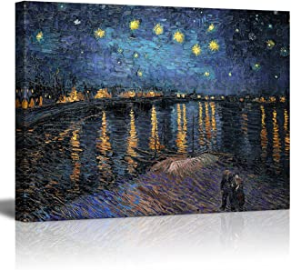 wall26 - Starry Night Over The Rhone by Van Gogh - Canvas Art Wall Decor-24 x32