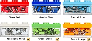 Colorful Binder Clips Office and School Supplies 3/4inch(19mm) Small Creative Design 72pcs in Total (Orange Green White)