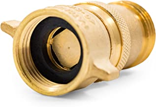 Camco RV Brass Inline Water Pressure Regulator- Helps Protect RV Plumbing and Hoses from High-Pressure City Water, Lead Free (40055)