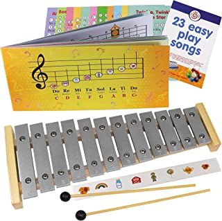 Glockenspiel 12 notes - Play-by-Pictures Xylophone Sheet Music Book - 34 Easy Play Songs Included