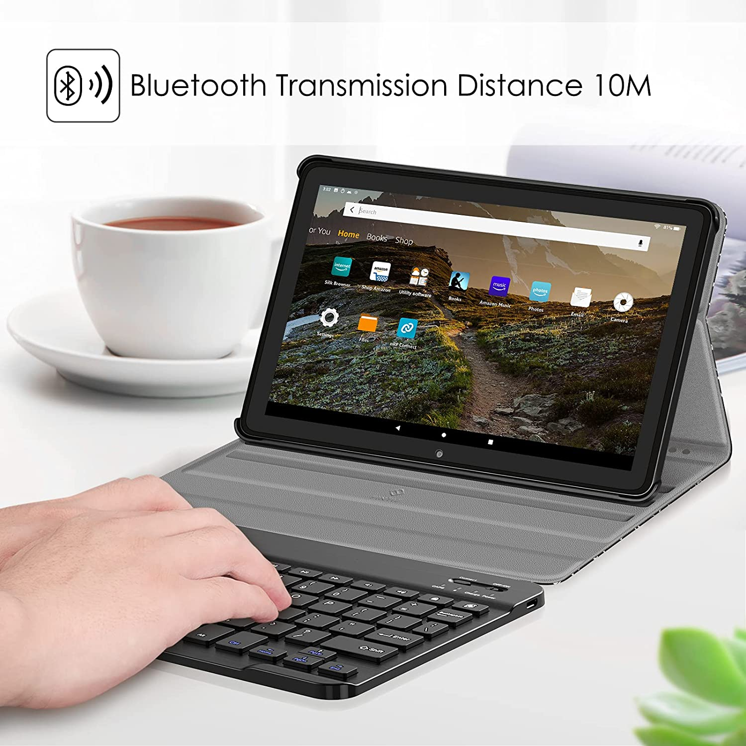 Tablet Accessories Slim Lightweight Cover with Detachable ...