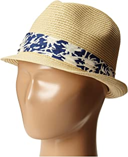 San Diego Hat Company Kids PBK3208 Fedora w/ Palm Tree Band
