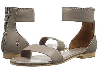 Frye Carson Ankle Zip (Grey Soft Nappa Lamb) Women