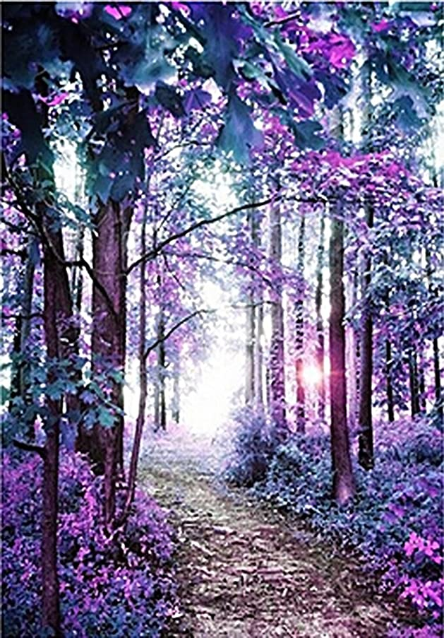 Purple Forest -5D Diamond Painting Needlework Mosaic DIY Cross Stitch Kit Embroidery for Bedroom Decor Gifts(Full Drill)