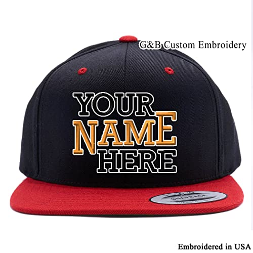 66125b64d5a Yupoong Custom Hat. 6089 Snapback. Embroidered. Place Your Own Text