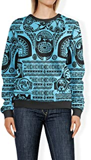 Rainbow Rules Maui Tattoos Inspired Disney Moana Blue - 2XL - Womens Sweatshirt