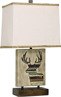 Decorative Nautilus Shell Table Lamp With Linen Fabric