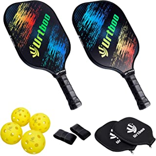Urtboo Pickleball Paddle Rackets,  Graphite Pickleball Sets Graphite Face Honeycomb Composite Core Low Edge Guard Premium Grip Light Weight 8 OZ, Pickleball Racket Good Choice for Beginner&Pro