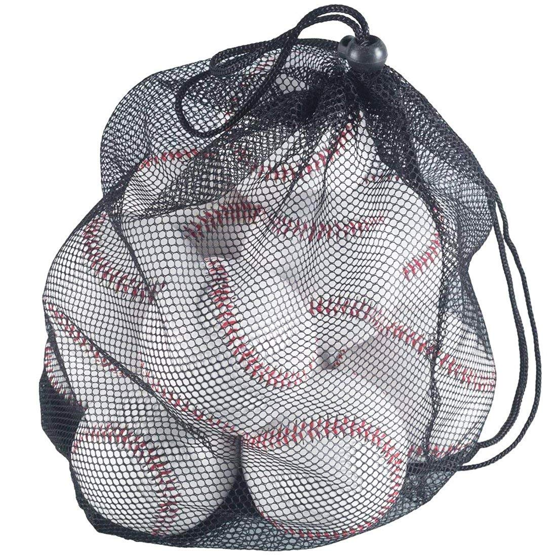 Tebery - Pack de 12 pelotas de béisbol de tamaño estándar, sin marcar y suave para práctica de bate: Amazon.es: Deportes y aire libre