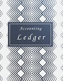 Accounting Ledger: Aztec Line Cover,  Accounting Record Keeping Books , Simple Income Expense Book , Log, Track, & Record Expenses & Income 8.5