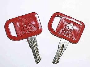 2 John Deere Equipment Keys-Ignition Key for John Deere, Multiquip, Indak, Part Number JD