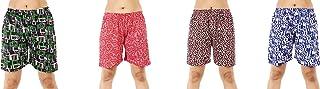 MUKHAKSH (Pack of 4 Girls/Ladies/Women's/Kids Cotton Hot Multicolors Shorts