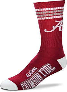 Mens NCAA 4 Stripe Deuce Crew Socks