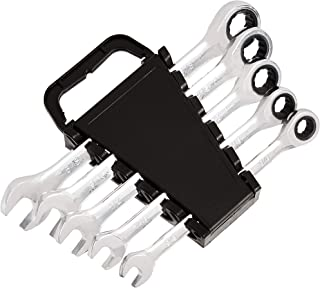 AmazonBasics Ratcheting Wrench Set - SAE, 5-Piece