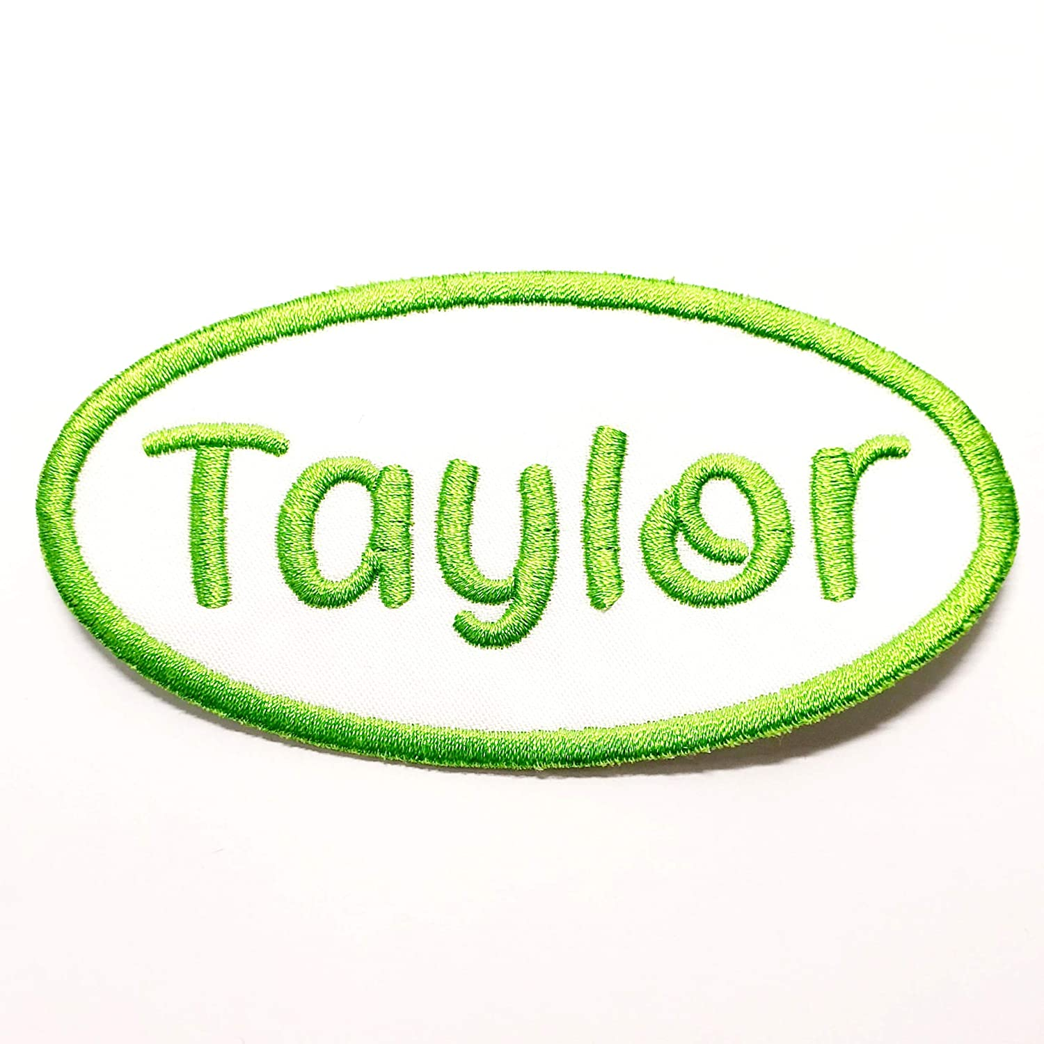 Name Patch Selling rankings Oval Iron-on El Paso Mall or Sew-on for Embroidered Applique