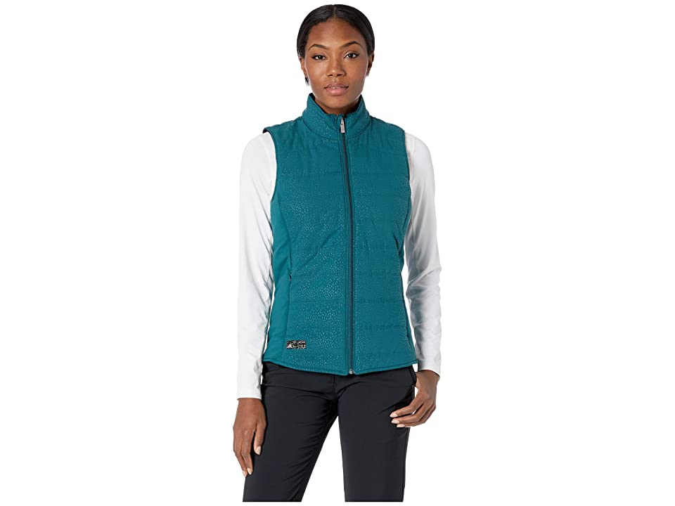 adidas Golf Reversible Quilted Vest (Mystery Green/Black) Women
