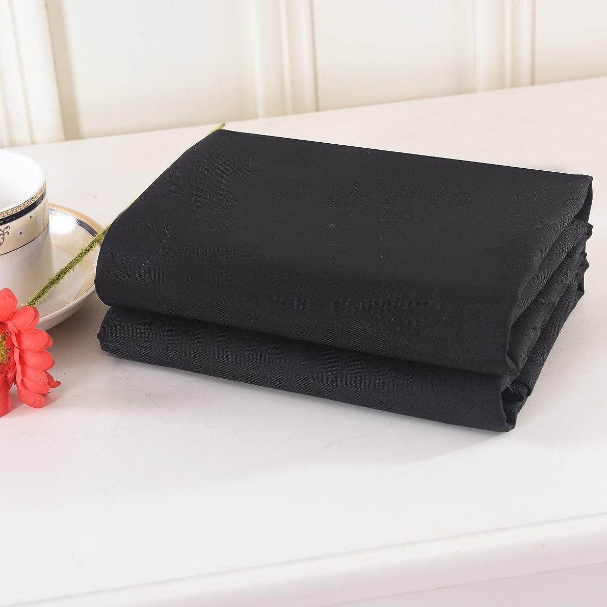 Lullabi Bedding 100% Brushed Microfiber Ultra Soft Pillow Case Set of 2 - Envelope Closure End - Wrinkle, Fade, Stain Resistant, Standard-Queen Size Pillowcase (Black)