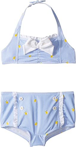 Lemon Print Two-Piece Swim Set (Toddler/Little Kids/Big Kids)