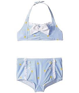 Lemon Print Two-Piece Swim Set (Toddler/Little Kids/Big Kids)