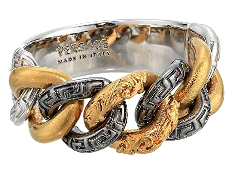 Versace Carved Chain Detail Ring