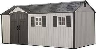 LIFETIME 60214 17.5 x 8 Ft. Outdoor Storage Shed, Desert Sand