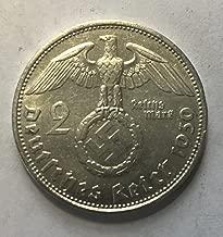 1936 - 1939 Nazi German Two Reichsmark $2 Two Reichsmark Condition Choice Very Fine Details