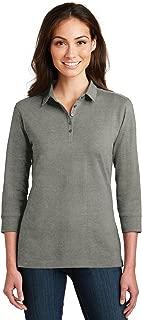 Ladies 3/4-Sleeve Meridian Cotton Blend Polo. L578