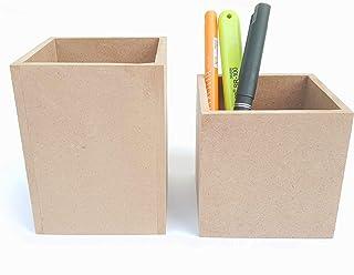 IVEI Soporte de papelería de lápiz y bolígrafo de madera liso para bricolaje   Organizador de escritorio para pintura, dec...