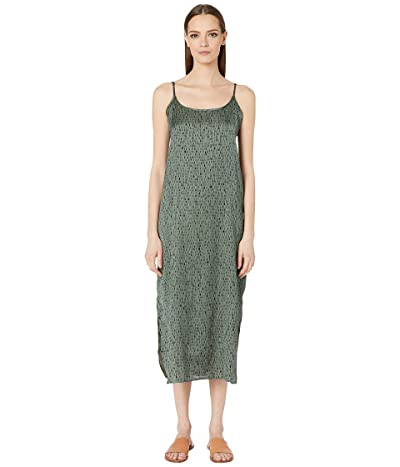 Eileen Fisher Silk Organic Cotton Dash Cami Maxi Dress (Nori) Women