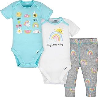 Gerber baby-girls 3-Piece Onesies Bodysuits and Pant Set Pants Set