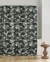 Browning Buckmark Camo Cotton Blend Shower Curtain Color: Green