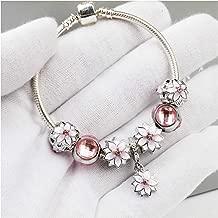 Qings Polished Charm Bracelet for Women Flower Bracelet - 18cm