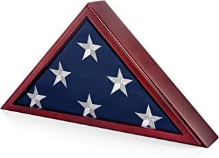 SmartChoice Flag Case for American Veteran Burial Flag 5x9 Feet (Mahogany)