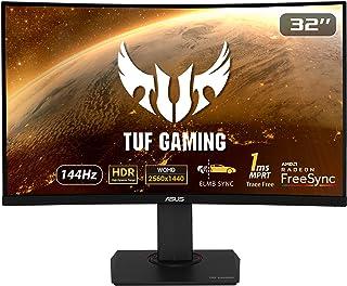 ASUS TUF Gaming VG32VQ monitor 81,28 cm (32 cali) (WQHD, FreeSync, czas reakcji 1 ms, 144 Hz, HDR10, HDMI, DisplayPort) cz...