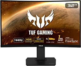 """Asus TUF Gaming VG32VQ 32"""" Curved Gaming Monitor FreeSync HDR Elmb Sync 1440P 144Hz 1ms Eye Care with DP HDMI"""