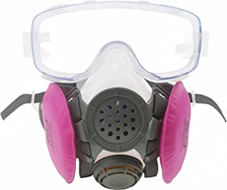 SYINE Half Face Reusable Respirator Half Mask Respiratory Protection against Oily Particles with Filters and Goggles,Medium