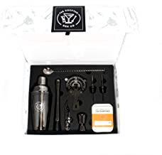 Complete 8-Piece Home Mixology Bartender Kit and BONUS Old Fashioned Cocktail Kit ($22 Value) - Premium Home Bartending Kit and Cocktail Shaker Set - (Gun Metal)