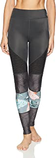 Maaji Womens 1823ALL04 Banner Full Legging Yoga Pants - Gray