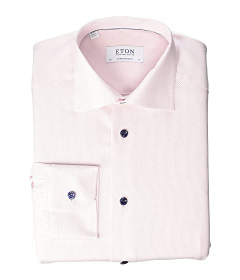 Eton Contemporary Fit Textured Dress Shirt