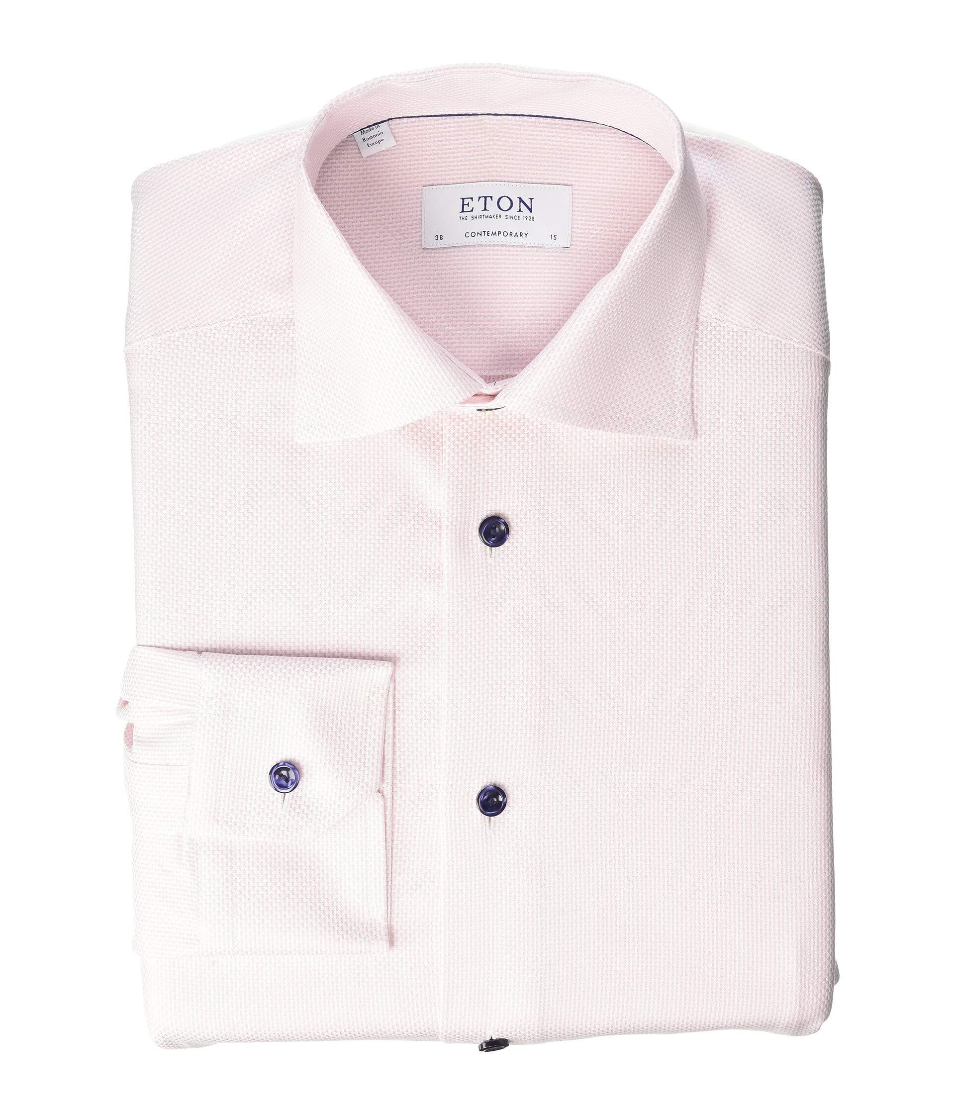 Eton Contemporary Fit Textured Dress Shirt At Luxuryppos