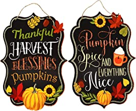 Charmed By Dragons Farmhouse Fall Seasonal Holiday Decor Autumn Harvest Signs (Harvest Blessings)