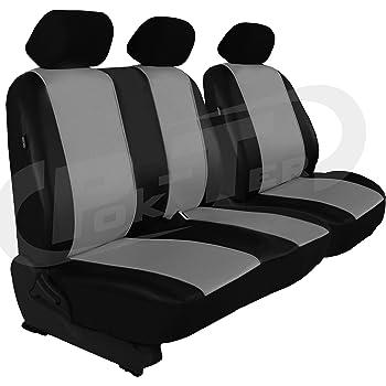 Pok Ter Tuning Maßgefertigter Sitzbezug Für Crafter Ii Ab 2017 Fahrersitz 2er Beifahrersitzbank Lehne Geteilt Kunstleder Farbe Grau Auto